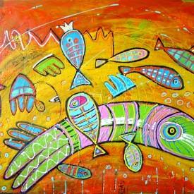 Ocean love 120 x 80 cm  € 995
