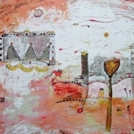 The good life  52 x 68cm zeefdruk € 400