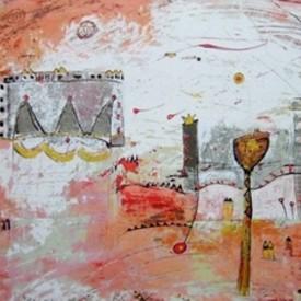 The good life  52 x 68cm zeefdruk € 400
