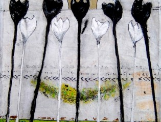 Black and white 40 x 40 cm € 250