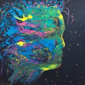 I am thinking 100x100cm On Canvas €975